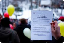 Manifestation om CSN